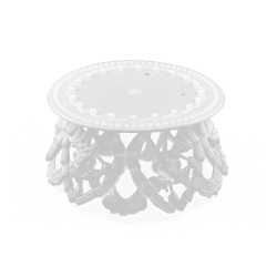 White Plastic Ornament Bases