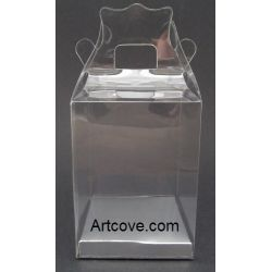 clear plastic favor boxes with handle