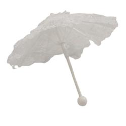 9 Inch White Parasol Lace Umbrella