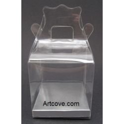 clear favor box with handle