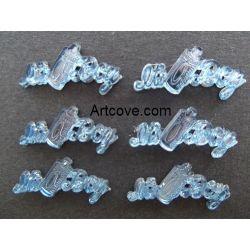 Miniature Acrylic Blue It's A Boy Sign Charms