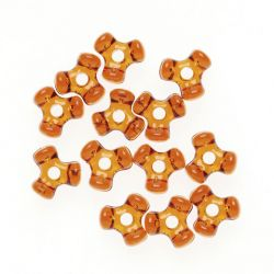 brown tri beads