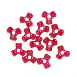ruby red tri beads