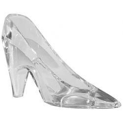 Mini Clear Plastic High Heel Cinderella Slipper