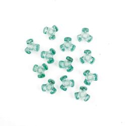 light green tri beads