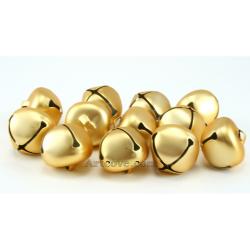 1 Inch Matte Gold Jingle Bells
