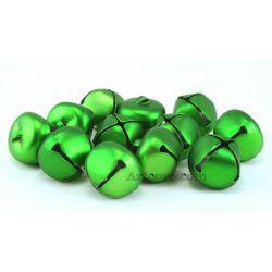 1 Inch Matte Green Jingle Bells 8 Pieces