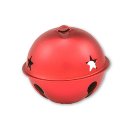 Matte Red Giant Jingle Bell with Star
