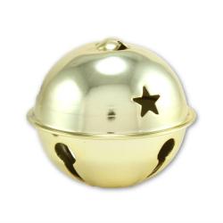 large gold jingle bells