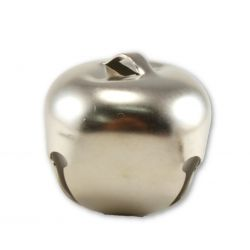2 inch silver jingle bells