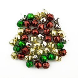 3/8 Inch 10mm Silver Gold Red Green  Small Jingle Bells
