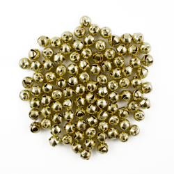 30 Gold 8mm 12mm Assorted Size Jingle Bells for Crafts
