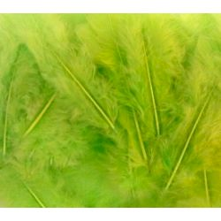 Apple Green Fluff Marabo Craft Feathers