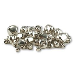 Small Silver Jingle Bells Assorted Sized