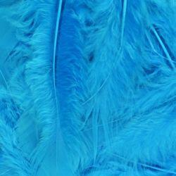 Turquoise Fluff Marabo Craft Feathers