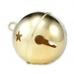Jumbo Gold Jingle Bell with Stars