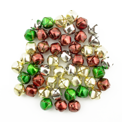 silver, gold, red, green jingle bells