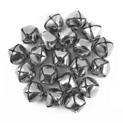 16mm silver jingle bells bulk