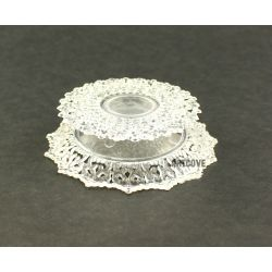 3.5 Inch Clear Plastic Ornament Base Cake Topper