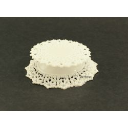 White Plastic Ornament Base Cake Topper