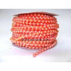 4mm orange mot fused pearls