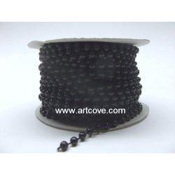 4mm black fused pearls