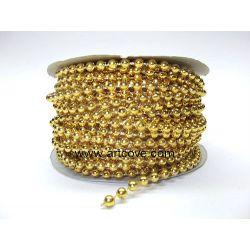4mm gold mot pearls