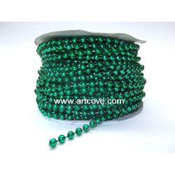 4mm christmas green mot pearls