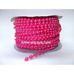 fushia fused pearls