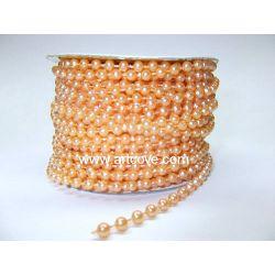 peach fused pearls artcove.com