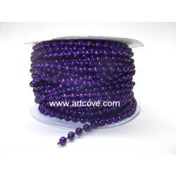 4mm purple mot fused pearls