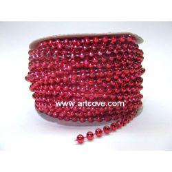 red mot pearls 4mm
