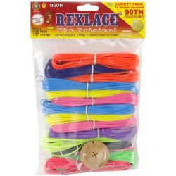rexlace craft lace variety pack kit neon color