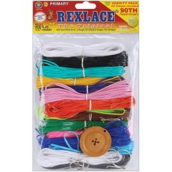 rexlace craft lace variety pack kit primary colors