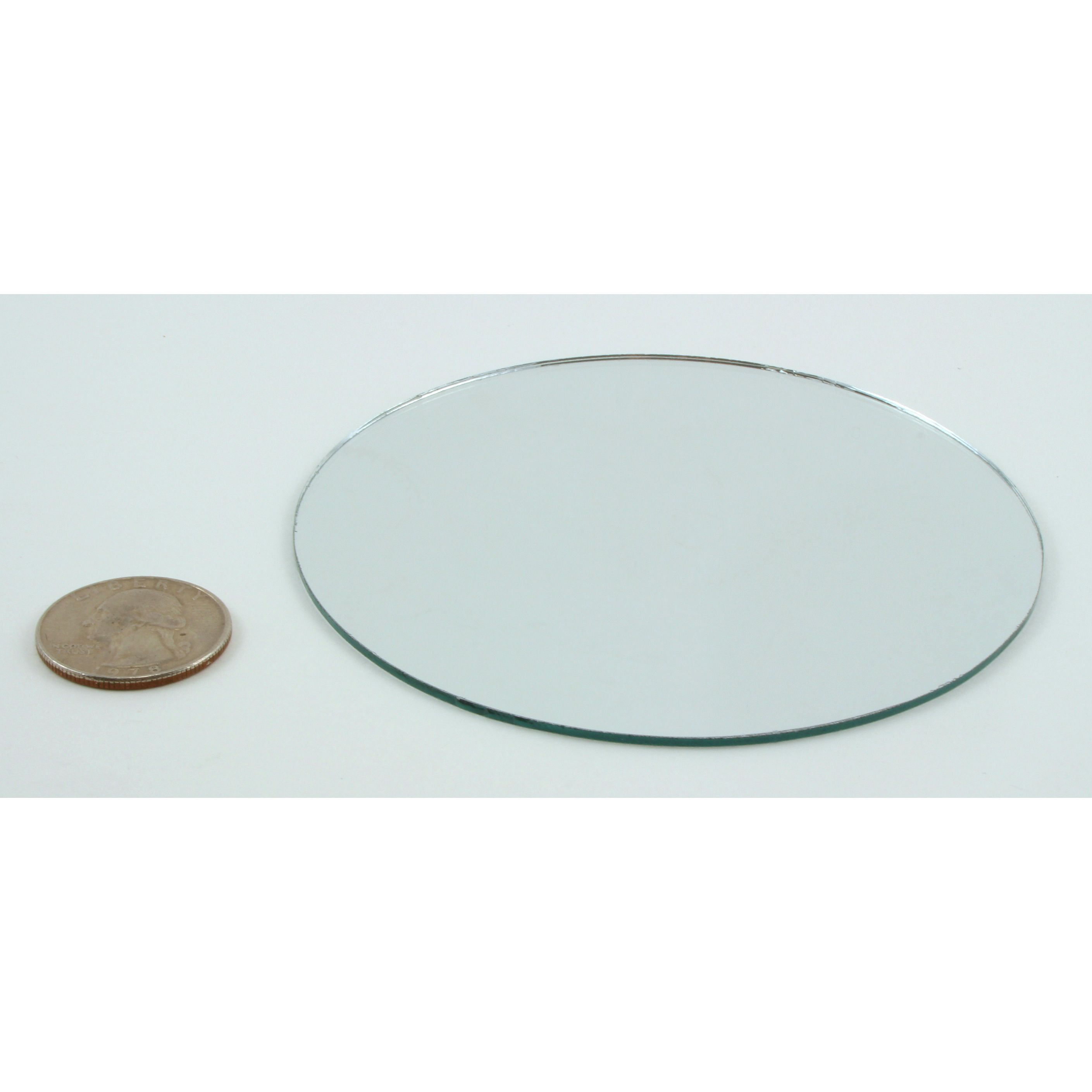 Small Mirror Pieces: 4 Inch Glass Craft Small Round Mirror 24 Pieces Mosaic