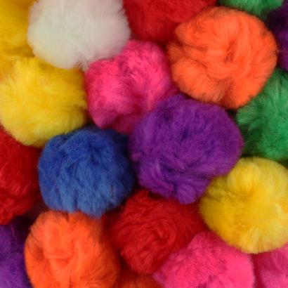 2 Inch Multi Colored Craft Pom Poms