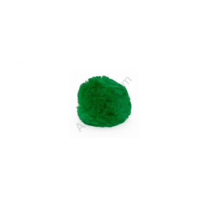 green craft pom poms