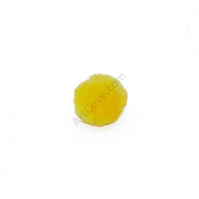yellow craft pom poms