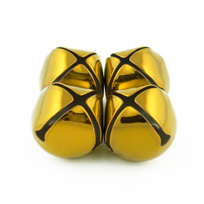 1.25 inch gold craft jingle bells bulk