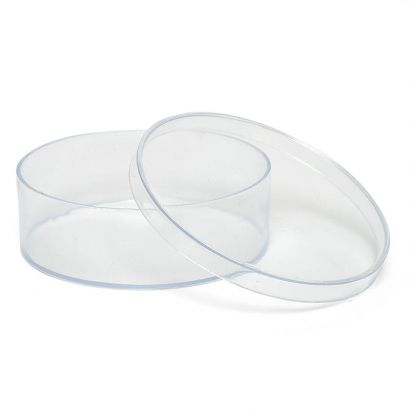 4.5 Inch Clear Round Plastic Favor Container Box