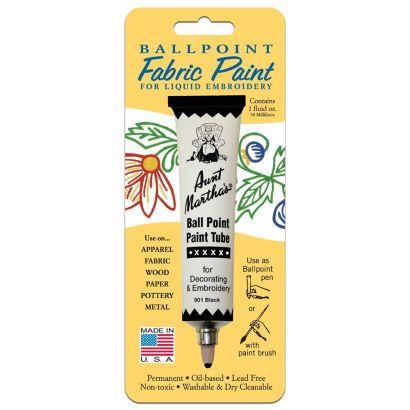 Aunt Martha's Ballpoint Paint Tube Black