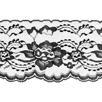 Black 3 Inch Wide Flat Lace