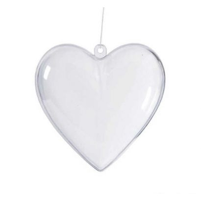 Clear Plastic Heart Ornaments