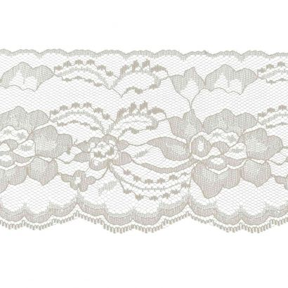 Ivory 4 Inch Wide Flat Lace