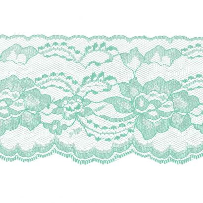 Mint 4 Inch Wide Flat Lace