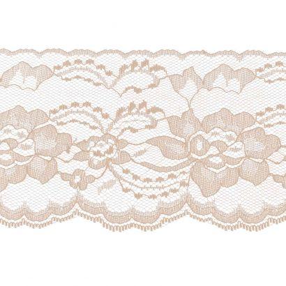 Peach 4 Inch Wide Flat Lace