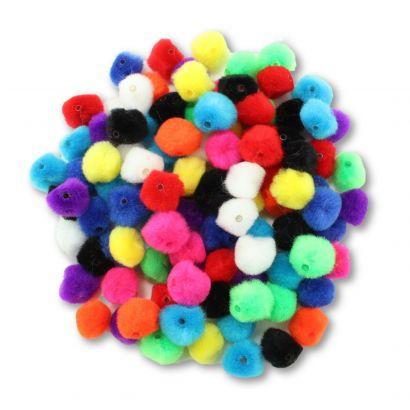 multi color pom pom beads