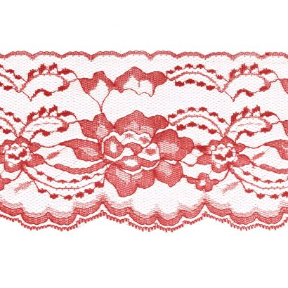 Red 4 Inch Wide Flat Lace