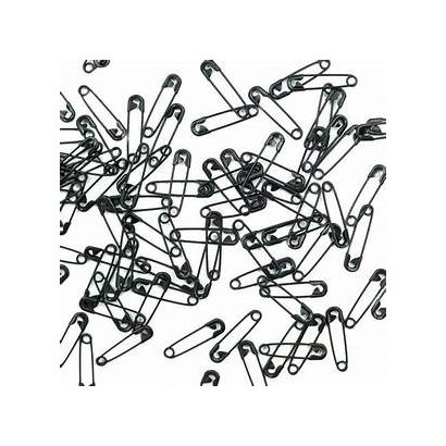 Small Black Safety Pins Bulk Size 00 - 0.75 Inch