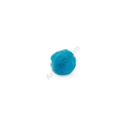 0.75 inch Turquoise Small Craft Pom Poms